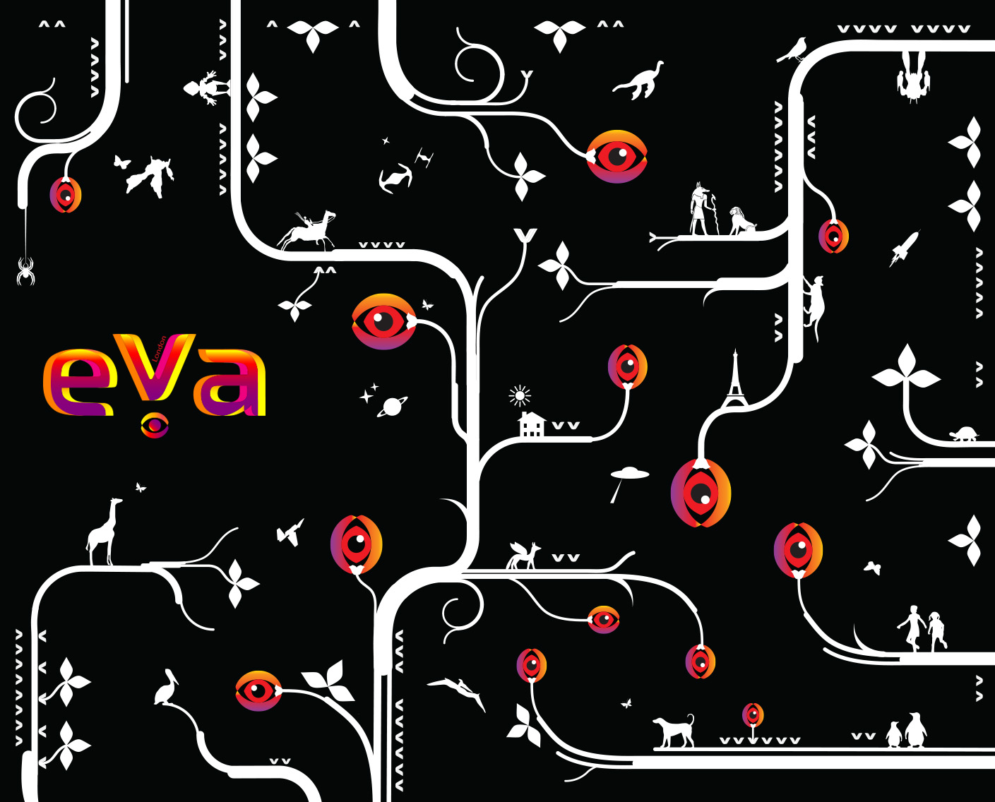 Branding Identity for EVA London conference by Color.Zone branding team.