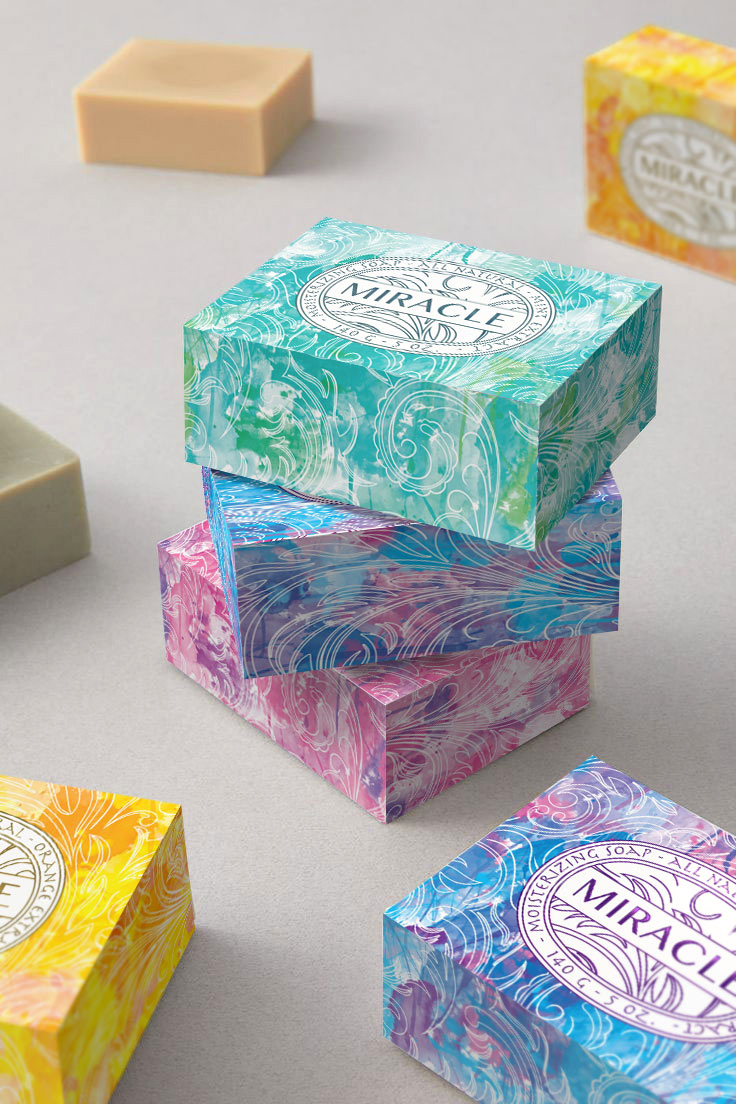 Miracle soap packaging design. By Color.zone creative agency.